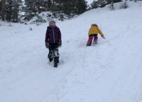 Vintertur med eller uten ski til Knaben leirskole